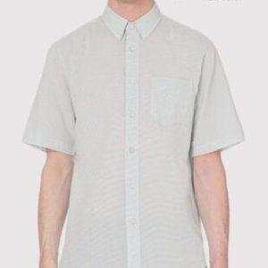 Rag and Bone Blue Stripe Short Sleeve Button Up XS